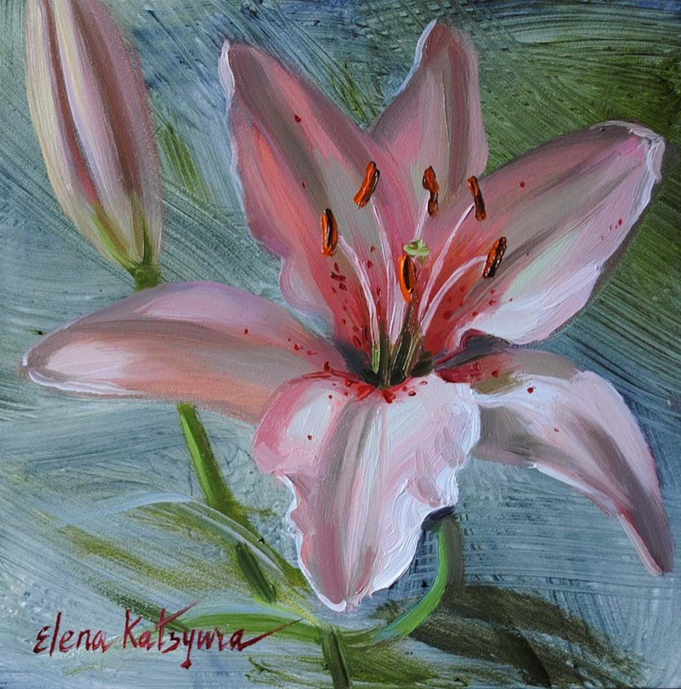 """Lily Sketch"" original fine art by Elena Katsyura"