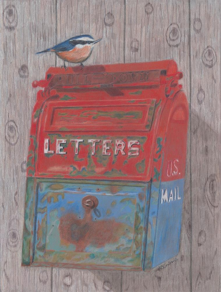 """Mail Call (matted and framed)"" original fine art by Arlene Crafton"