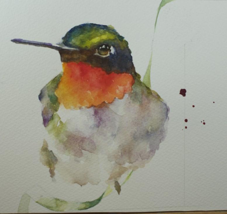 """Hummer Study #1"" original fine art by Sue Churchgrant"