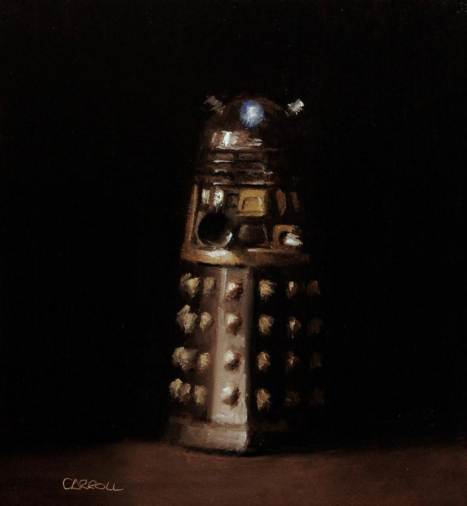 """Dalek - study"" original fine art by Neil Carroll"
