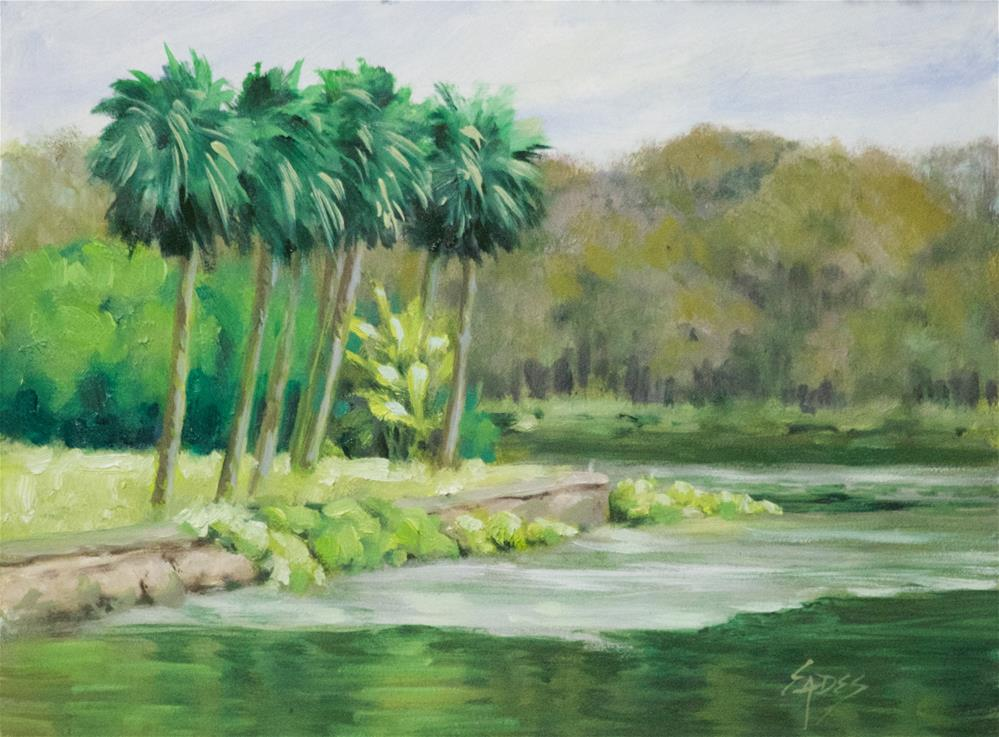 """The Springs in November"" original fine art by Linda Eades Blackburn"