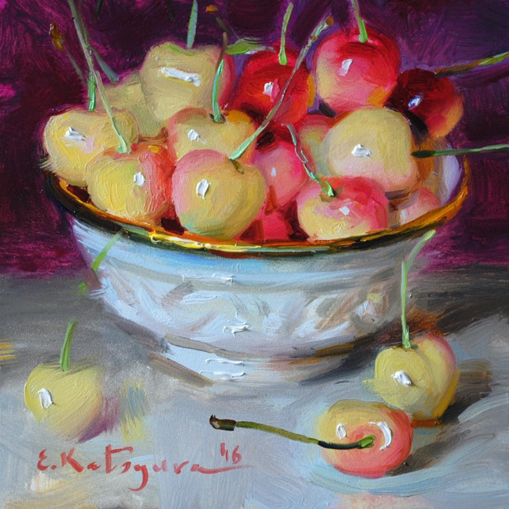 """Cherry Mix"" original fine art by Elena Katsyura"