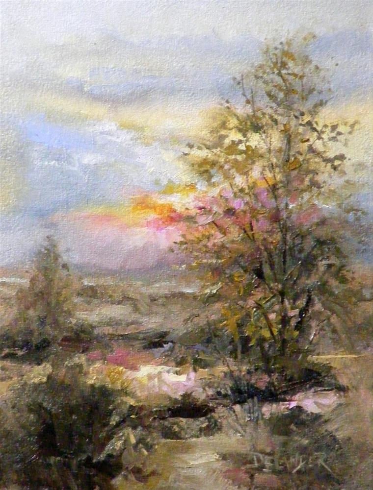 """Mission Viejo Sunset, Landscape, Oil Painting"" original fine art by Diana Delander"