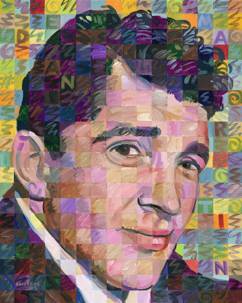 """Dean Martin"" original fine art by Randal Huiskens"