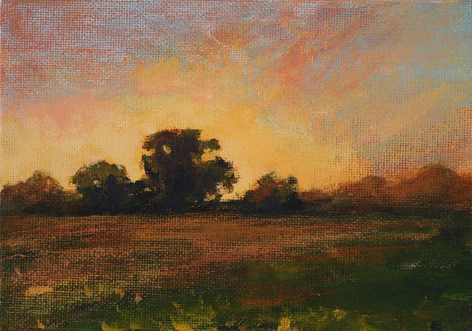 """""""Quiet Sunset"""" original fine art by Shannon Bauer"""