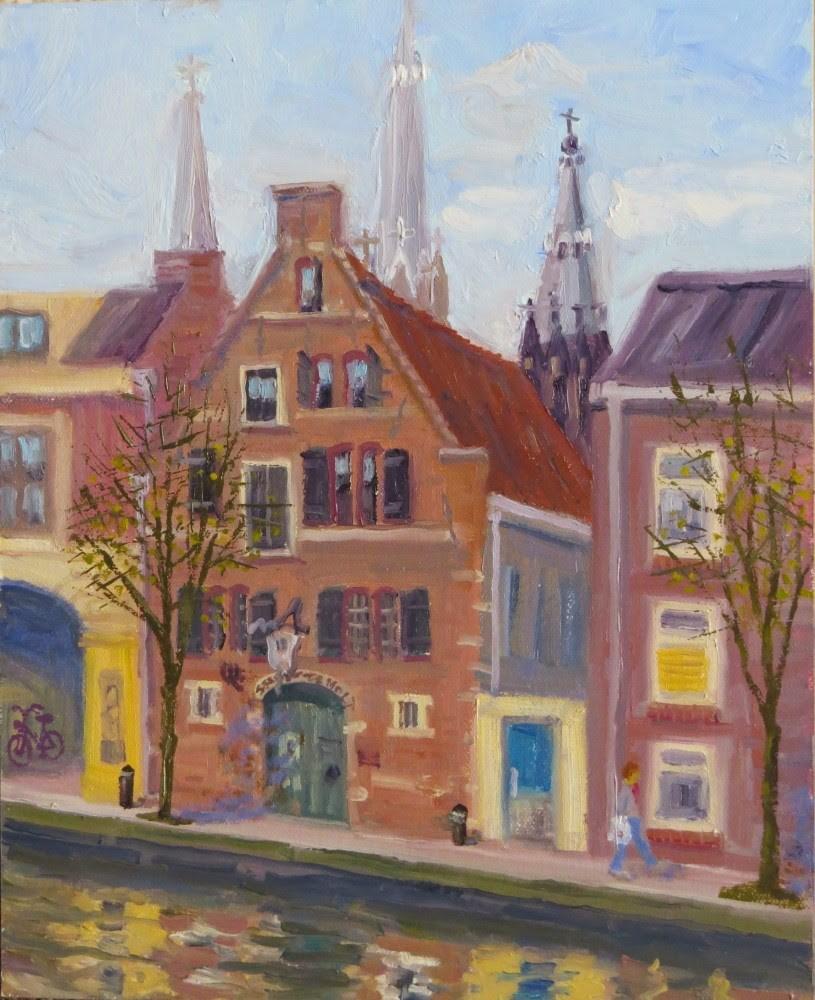 """Stadsherberg de Mol"" original fine art by Richard Kiehn"