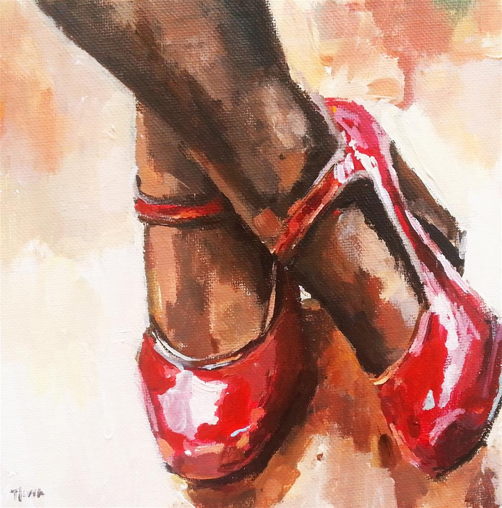 """Dancing Shoes"" original fine art by Nava Judith"