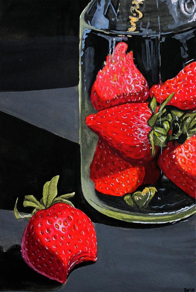 """Strawberries"" original fine art by Brandy Woodford"