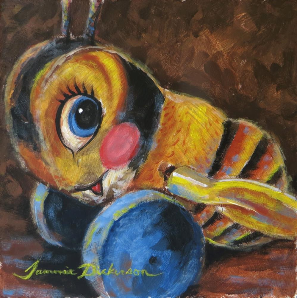 """Buzzy Bee"" original fine art by Tammie Dickerson"