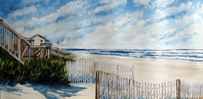 """""""Waterfront Property"""" original fine art by Nan Johnson"""