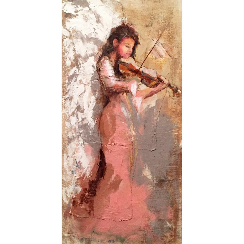 """Angel Music #2"" original fine art by Marcia Hodges"