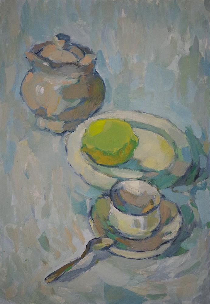 """China, Still life oil Painting, Original handmade artwork, post impressionism"" original fine art by V Yeremyan"