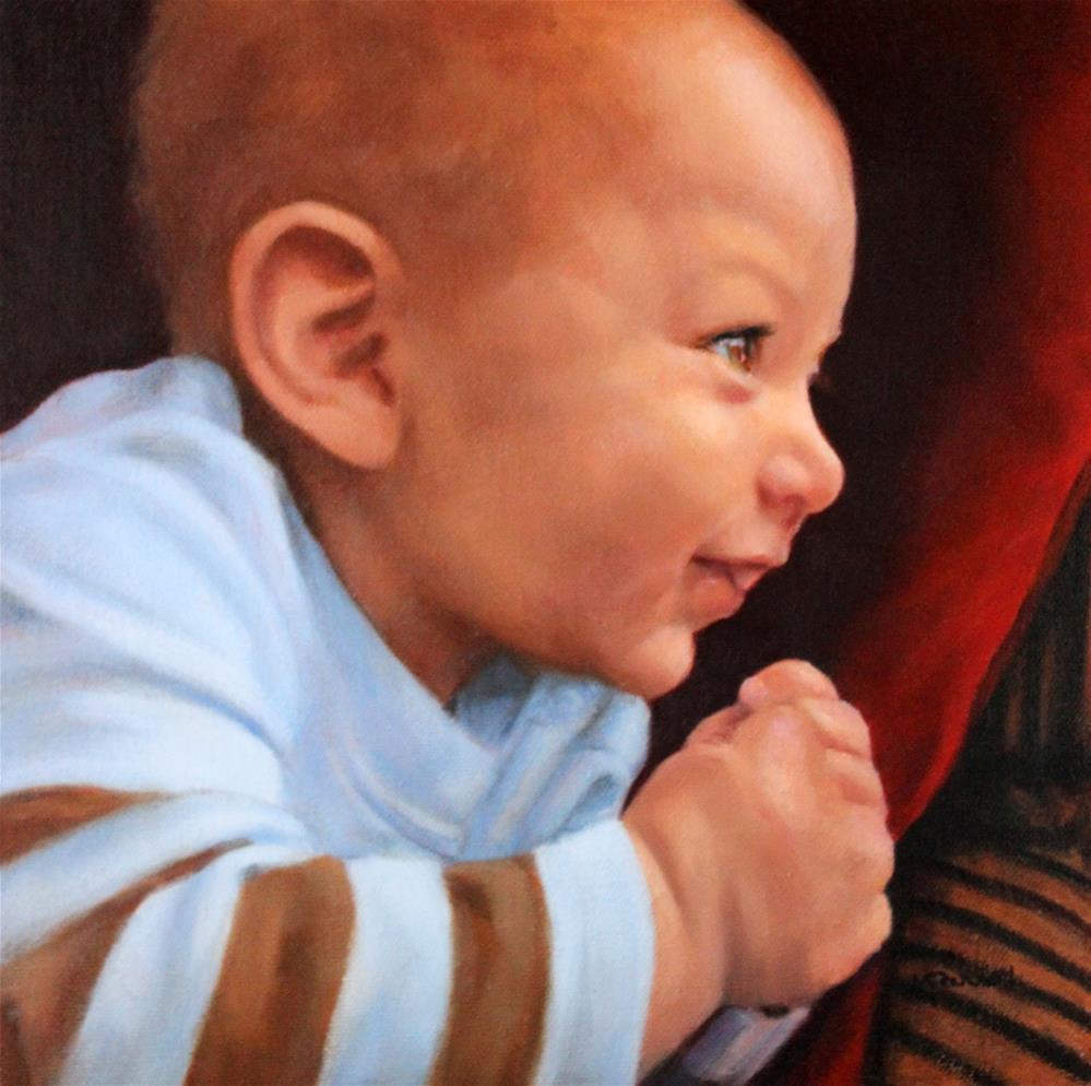 """Joshua, always smiling"" original fine art by Joan Carroll"