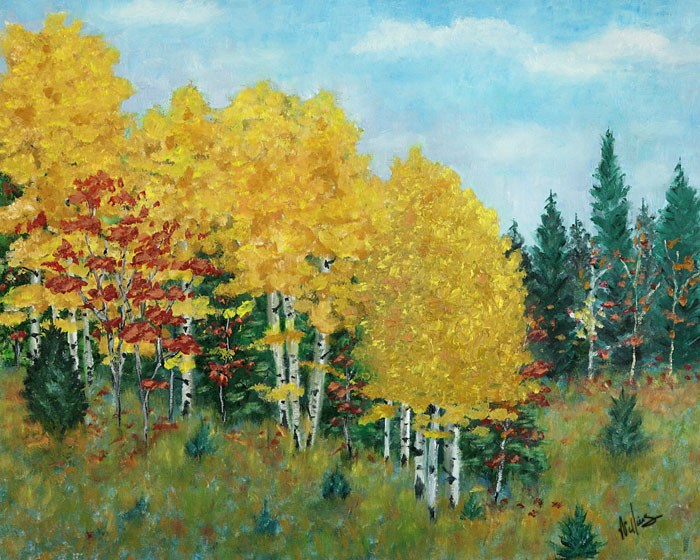 """Autumn in the Hills"" original fine art by Sunny Williams"