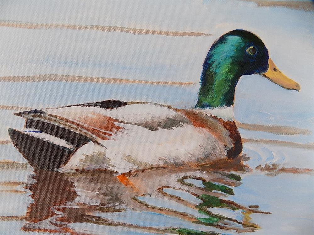 """Mallard Duck"" original fine art by Joan Reive"