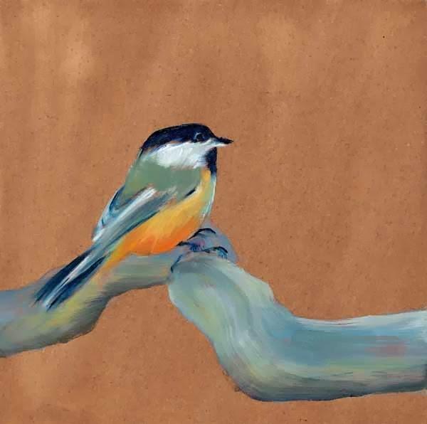 """One Chick"" original fine art by Brenda Ferguson"