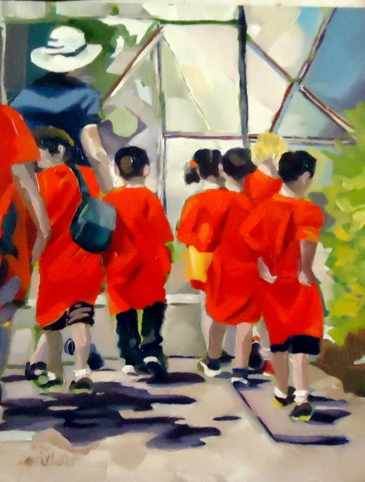 """""""Field Trip"""" original fine art by Laurie Mueller"""