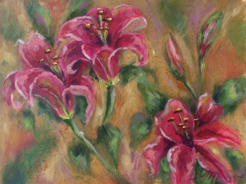 """Consider the Lilies"" original fine art by Susie Monzingo"