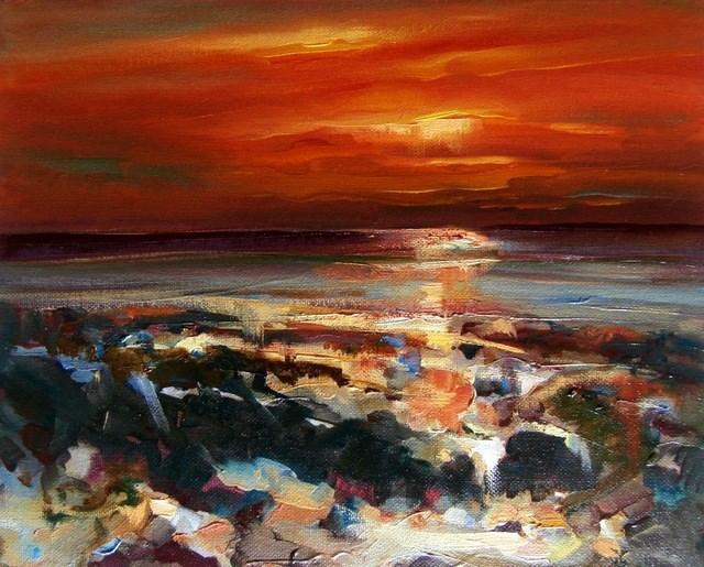 """Favourite Place"" original fine art by Anne Wood"