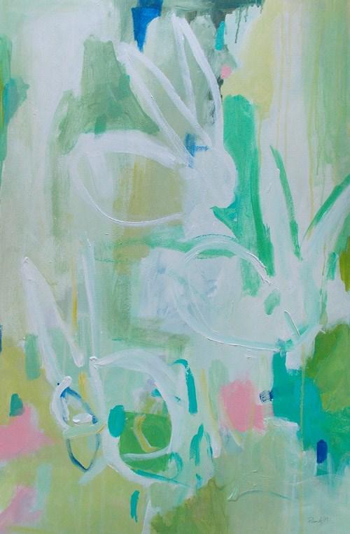 """White Bunnies"" original fine art by Pamela Munger"