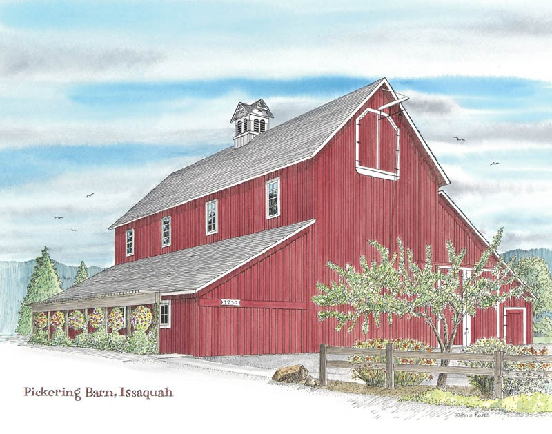 """The Pickering Barn"" original fine art by Heidi Rose"