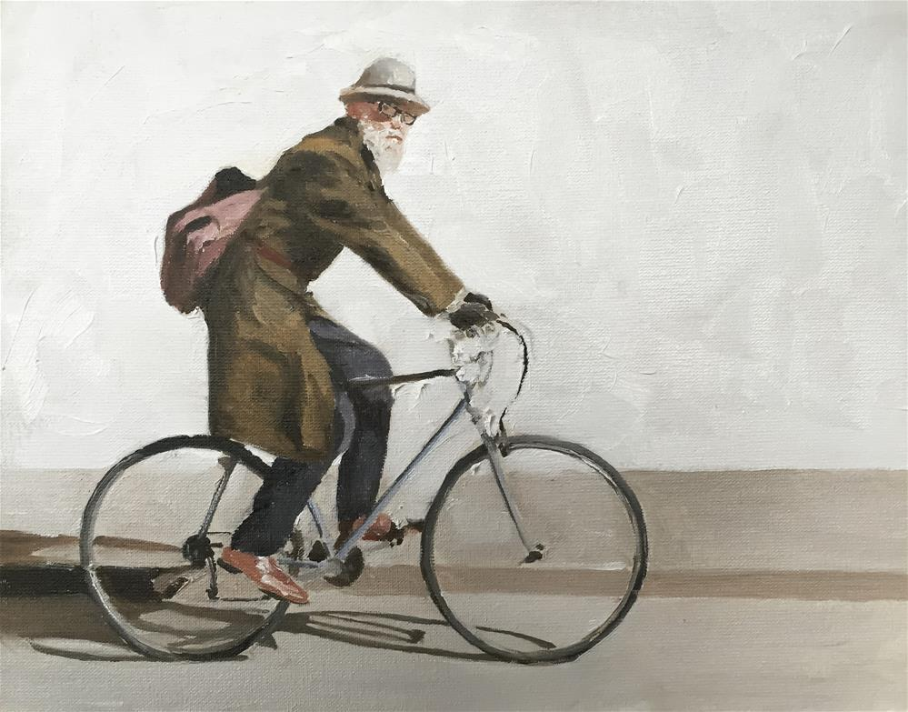 """Man of Bike"" original fine art by James Coates"