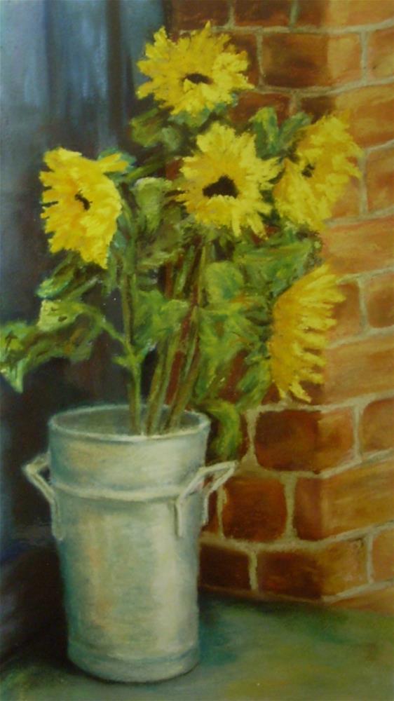 """Sunflowers"" original fine art by Karen Collins"