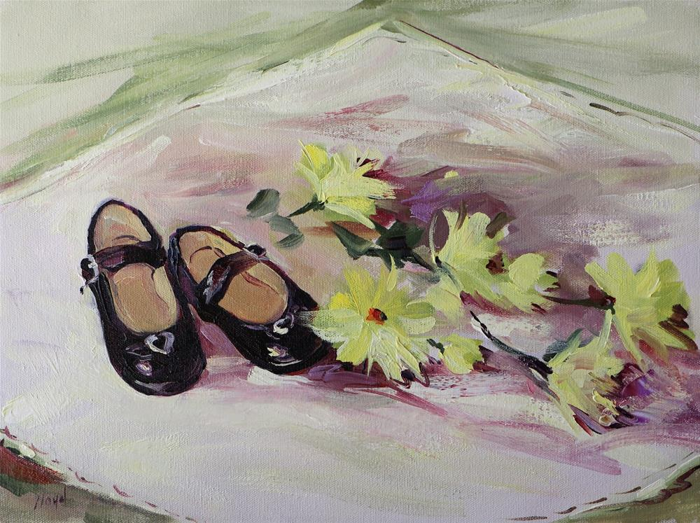 """Annie's Shoes"" original fine art by Diane Lloyd"