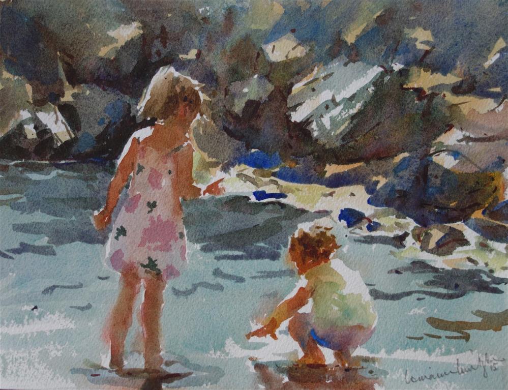 """Playing in the Shallows"" original fine art by Lorraine Lewitzka"