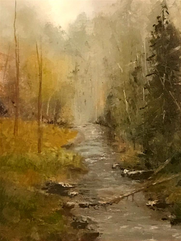"""""""the fog lifting"""" original fine art by Betty Argiros"""