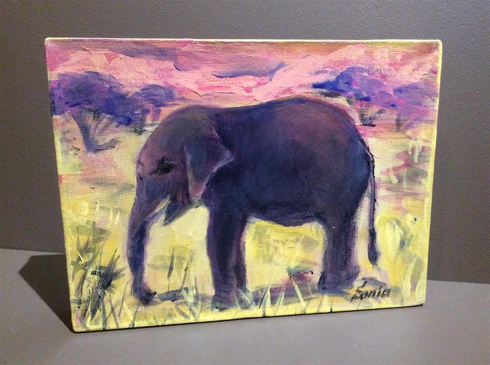 """Elephant Painting"" original fine art by Sonia von Walter"