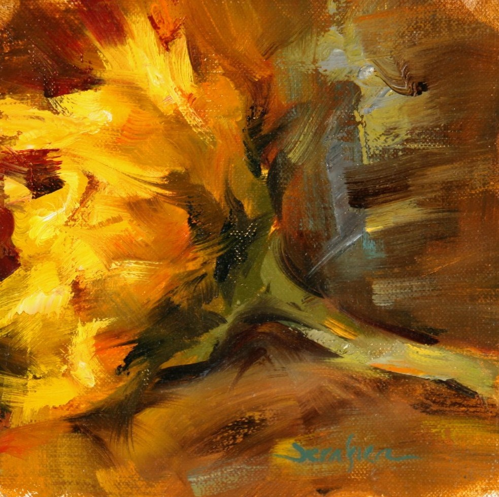 """Sunflower in Warm Light"" original fine art by Scott Serafica"