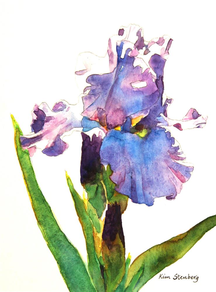 """Iris Love"" original fine art by Kim Stenberg"