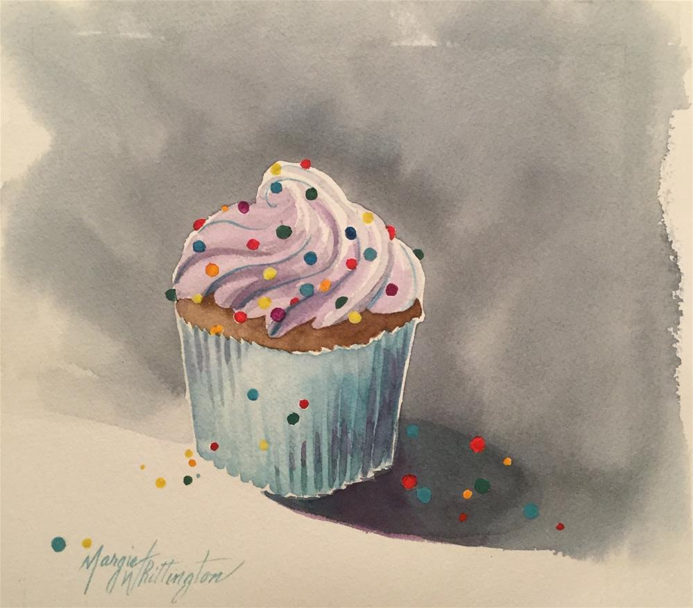 """A Yummy Cupcake"" original fine art by Margie Whittington"