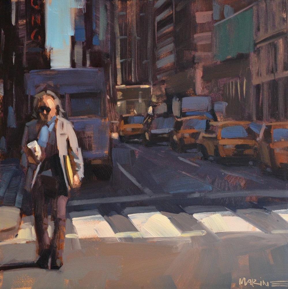 """""""Who Needs a Taxi!?"""" original fine art by Carol Marine"""