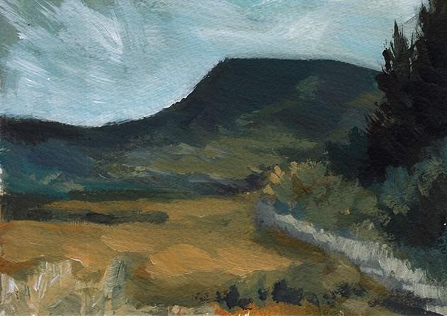 """Chilean Mountain"" original fine art by J M Needham"