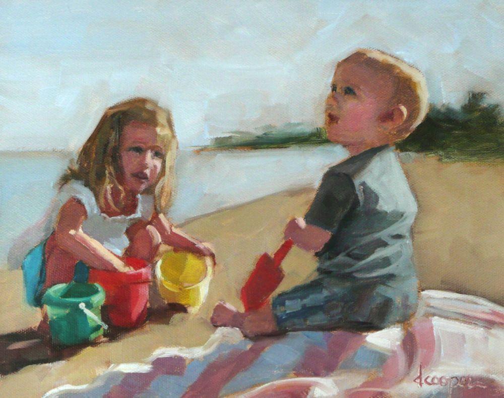 """""""Start Digging!"""" original fine art by Dana Cooper"""