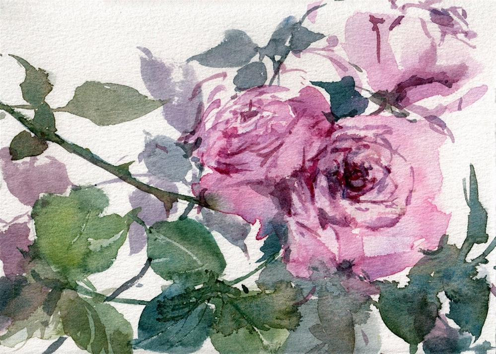 """Rosa Lavande"" original fine art by Linda Henry"