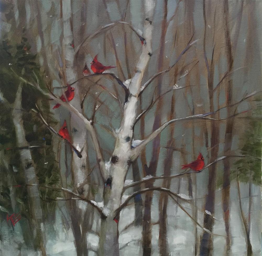 """Winter Rest"" original fine art by Krista Eaton"