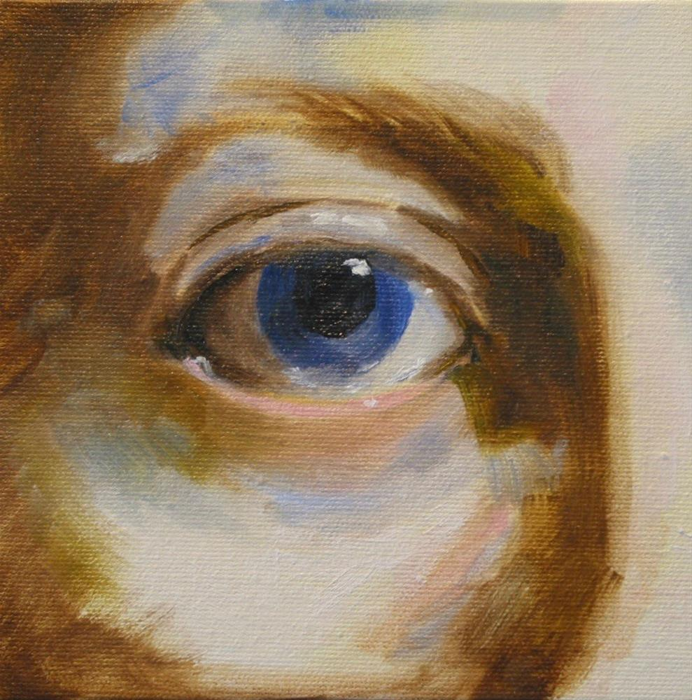 """Eye Practice"" original fine art by Patricia Murray"