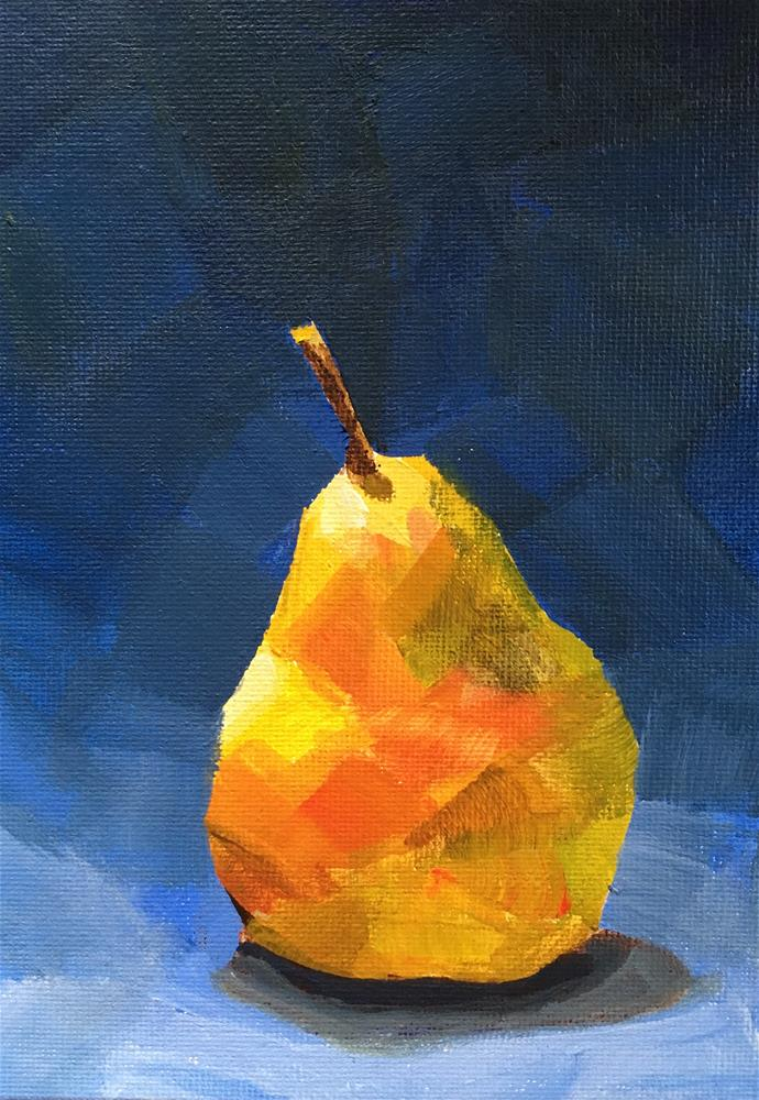 """The Pear Stands Alone"" original fine art by Chi Chi Taylor"