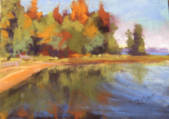 """Evening Sun"" original fine art by Ruth Mann"