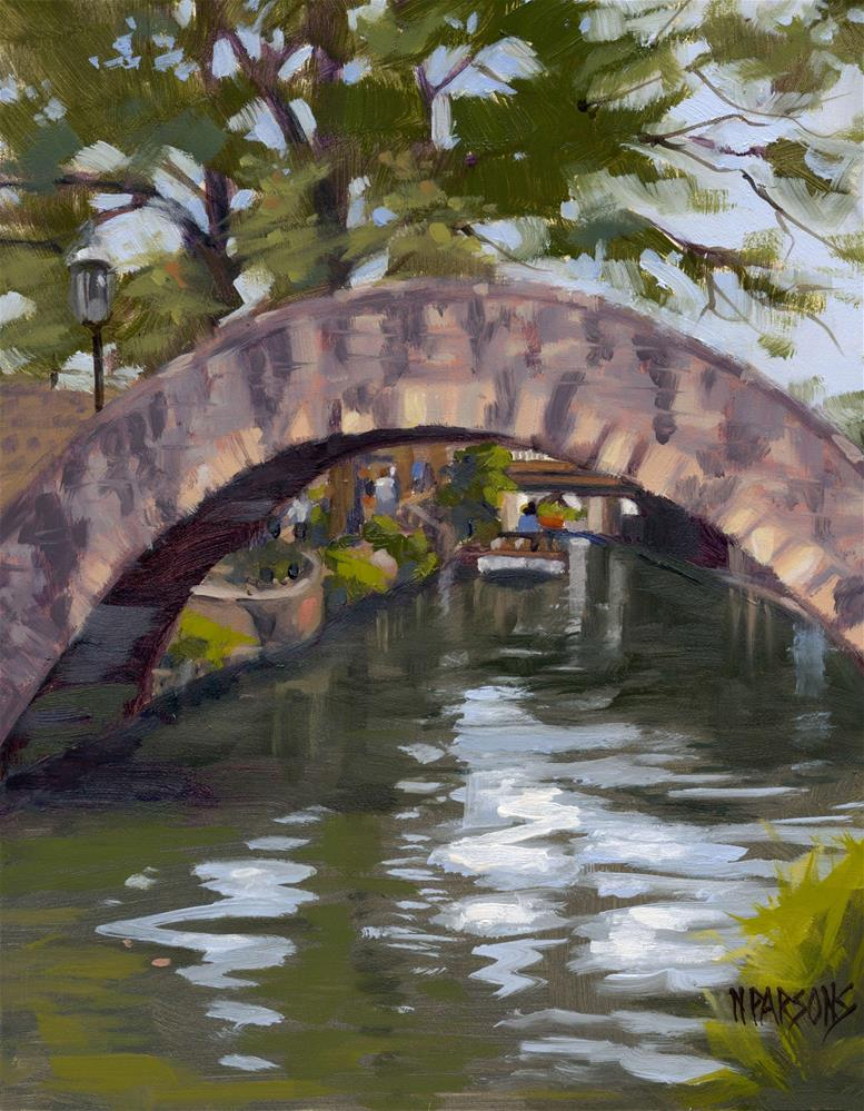 """Bridges of Bexar County"" original fine art by Nancy Parsons"