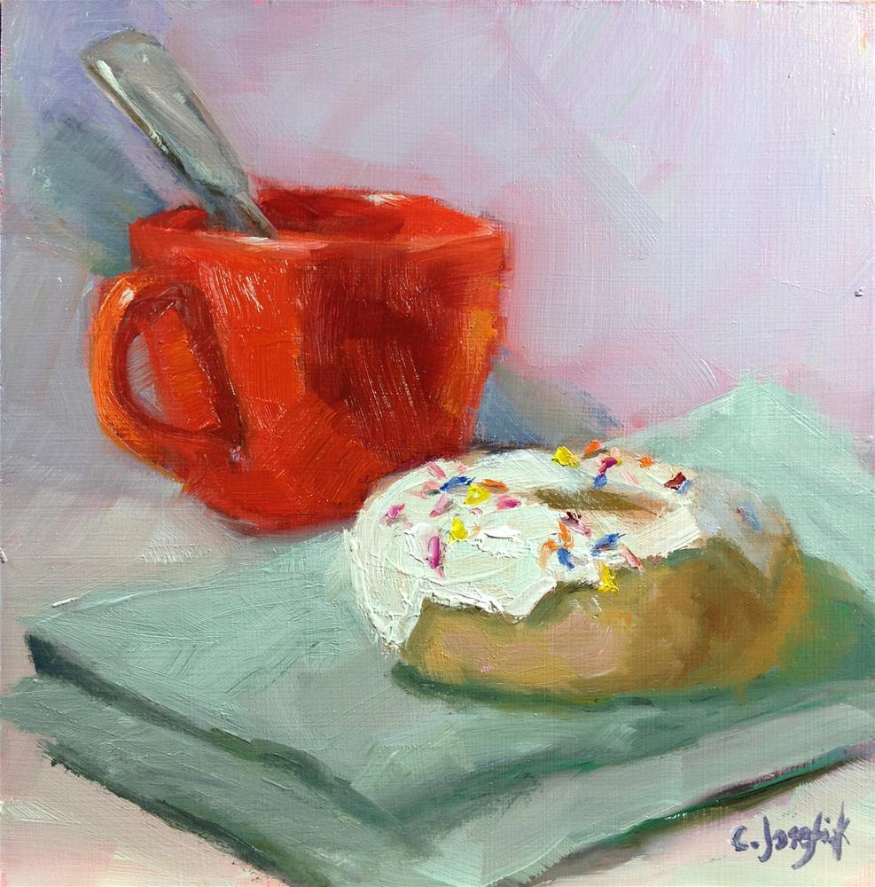 """Coffee Break"" original fine art by Carol Josefiak"