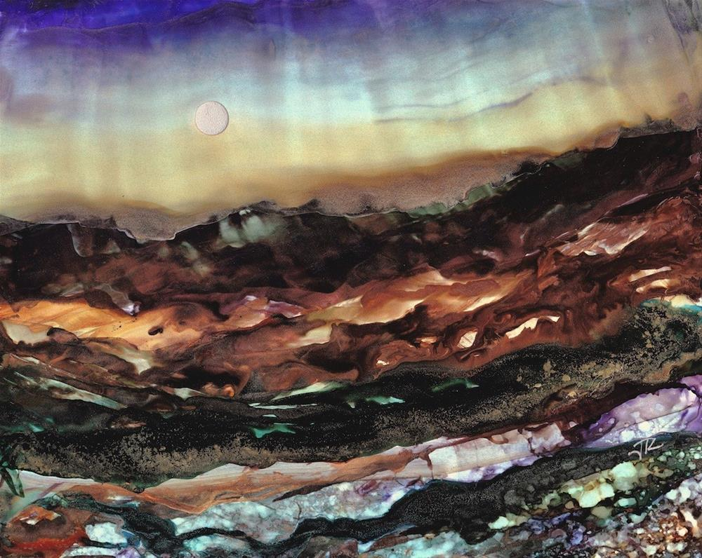 """Dreamscape No. 447"" original fine art by June Rollins"