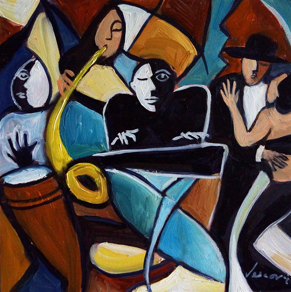 """Bolero 5, 8x8"" original fine art by Valerie Vescovi"