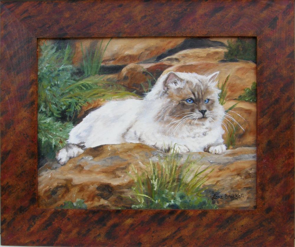 """Sitting Pretty"" original fine art by Lori Brackett"
