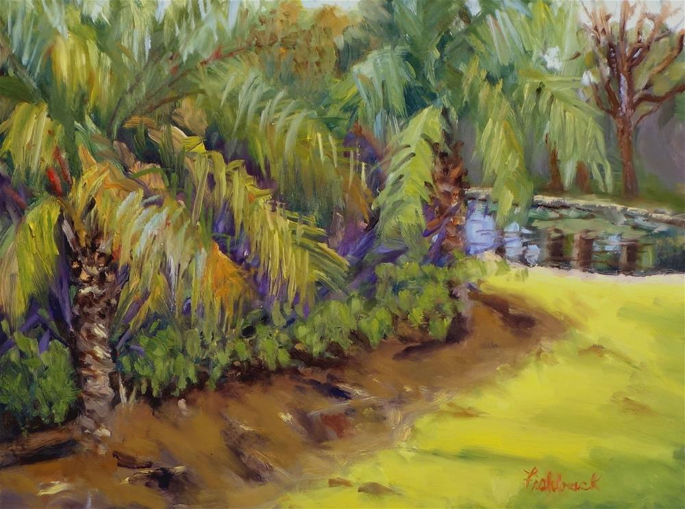 """Palms"" original fine art by Daniel Fishback"