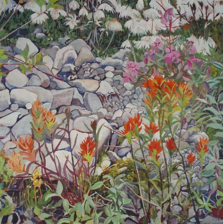"""Flowers at Reid"" original fine art by Carole Baker"