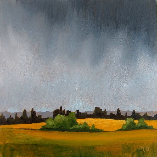 """July Rain"" original fine art by Nicki Ault"